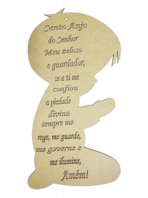 Menino oração santo anjo - 23x45