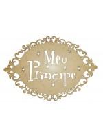 Placa oval arabesco - Meu Príncipe - 33x23